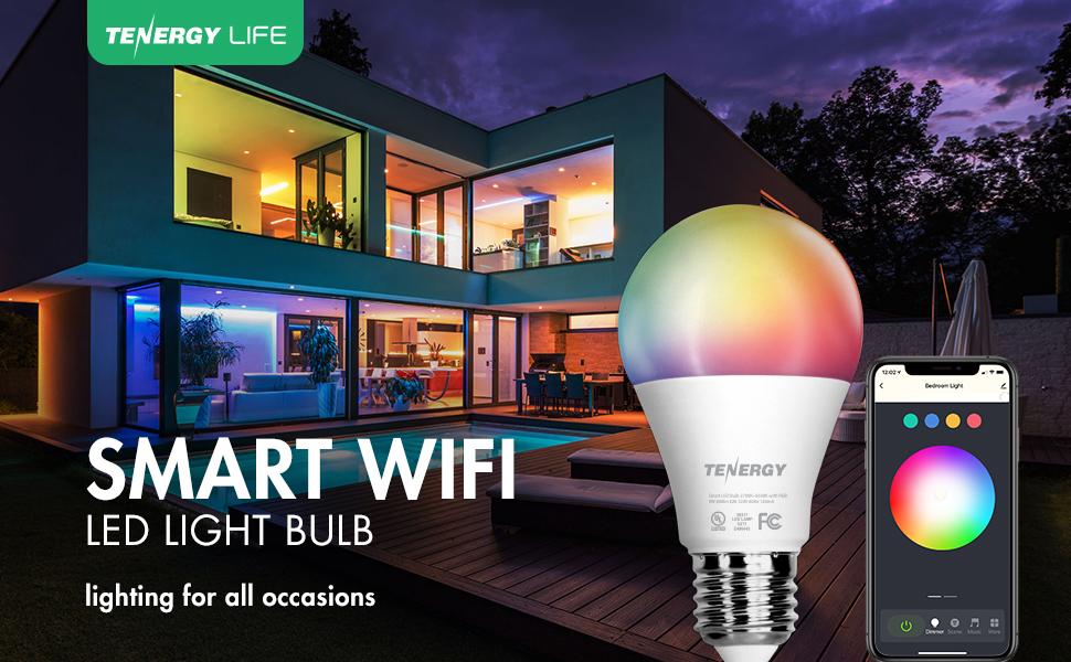 Smart wifi LED light bulb RGB voice control