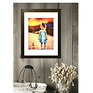"picture frame for 11x14 inch photo with 8x10"" mat included wall collage mount easy to hang classic"