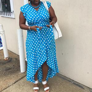 GRECERELLE Women's Summer Floral Print Cross V Neck Dress Bohemian Flowy Long Maxi Dresses