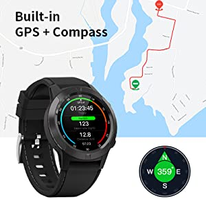 smart watch with GPS COMPASS