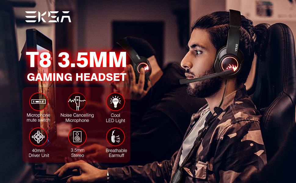 T8 Gaming Headset