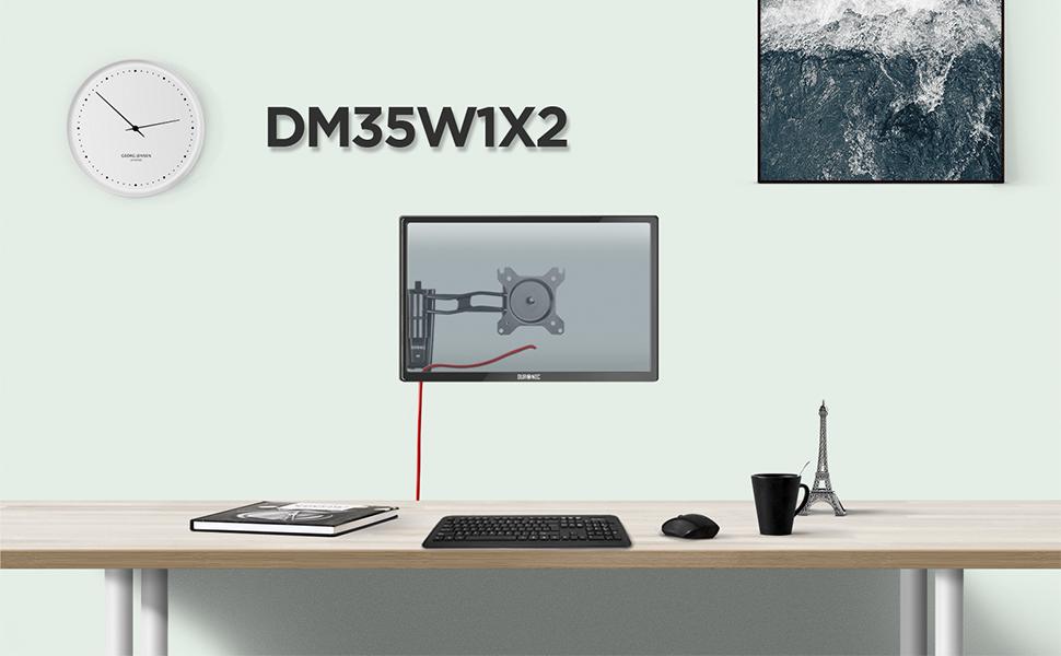 Duronic DM35W1X2 Soporte TV de Pared Brazo para 1 Monitor PC Pantalla LCD LED de 13