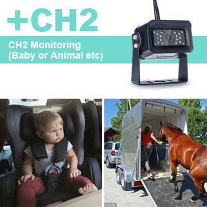 It Supports Two AHD Wireless Backup Camera