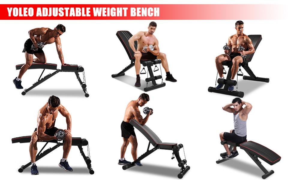flaches Fliegen-Gewicht Sit-Up-Steigung Mehrzweck-Bank mit Widerstandsband gebogene Bank Workout-Bank Verstellbare Hantelbank faltbar Fitnessstudio f/ür Heim-Fitness