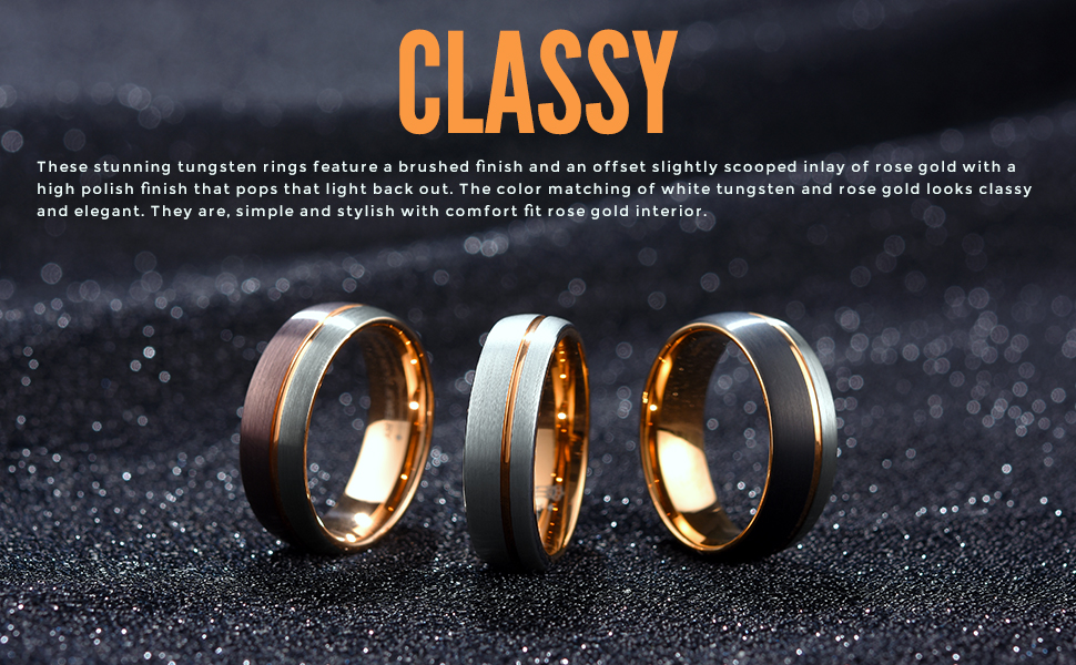 7mm white tungsten ring