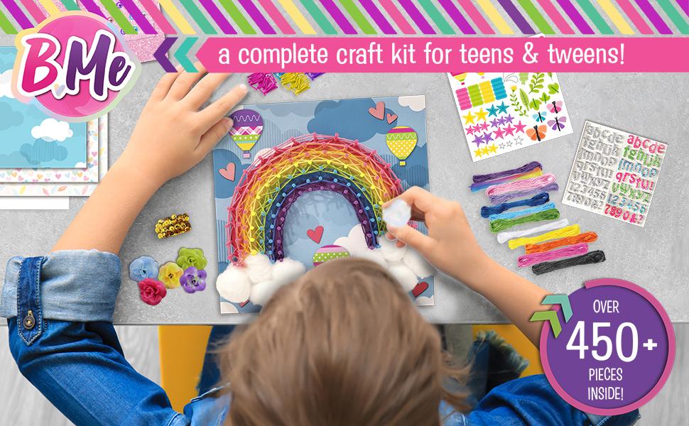KIDS GIRLS CRAFT DIY ACTIVITY SET STRING ART