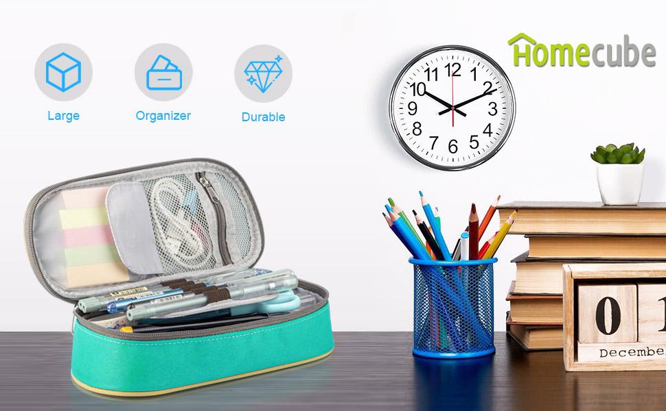 Homecube Estuche Escolar, Portalápices Plegable/ Artículo de papelería Ideal para Estudiantes: Amazon.es: Oficina y papelería