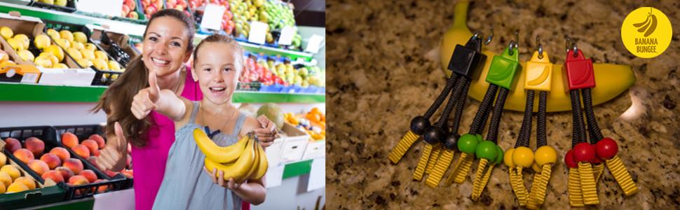 kitchen gadget utensil banana fruit hang hanger holder hook basket grocery produce