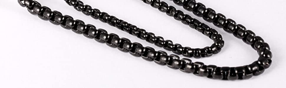 black plated necklace for man