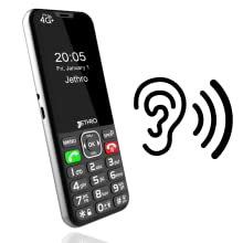 Jethro phone with M4 T4 hearing aid compatibility