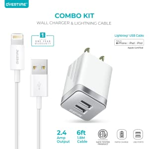 Mua iPhone Charger Set, Overtime Apple MFi Certified