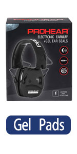 PROHEAR 036 Digital Electronic Shooting Ear Protection Muffs with Gel Ear Pads