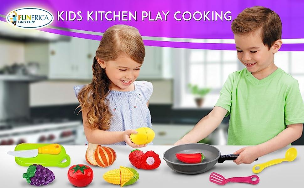 Kids Kitchen Play Cooking