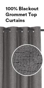 100%blackout curtains