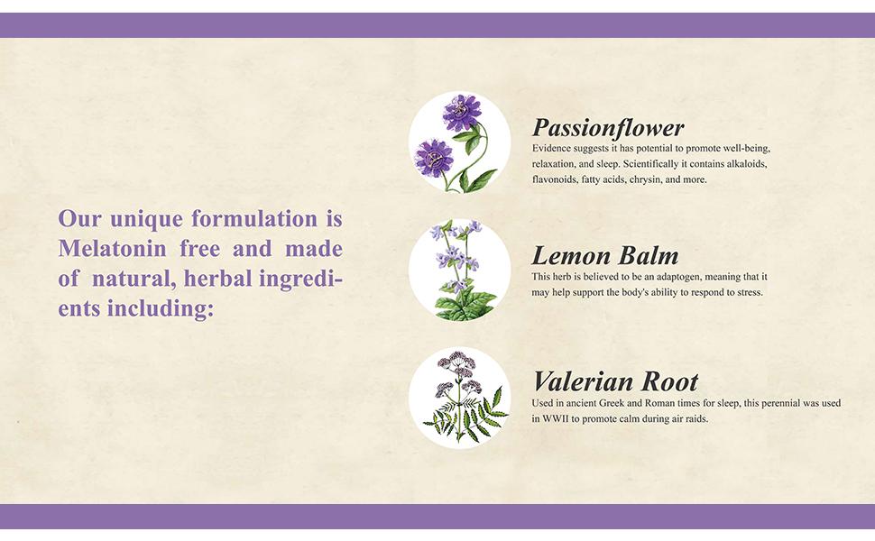 ridgecrest herbals passionflower lemon balm valerian melatonin