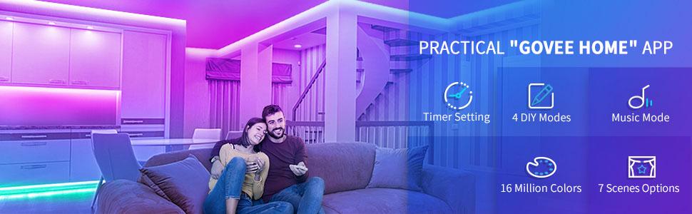 32.8FT led strip lights smart wifi works with alexa google assistant for tv bedroom dining room home