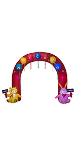AJY 8 Feet Tall Easter Inflatable Giant Archway with Egg amp; Bear and Bunny