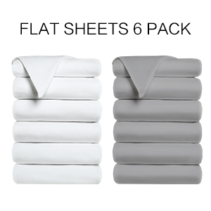 flat sheets 6 pack