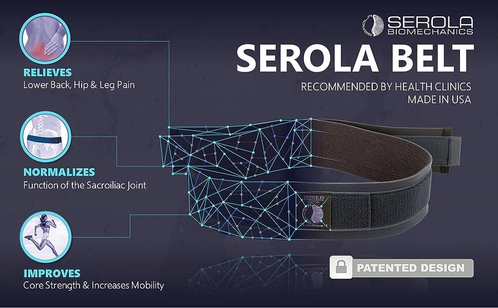 Serola Sacroiliac Belt for Lower Back Pain, Sciatica, Hip, and Leg Pain