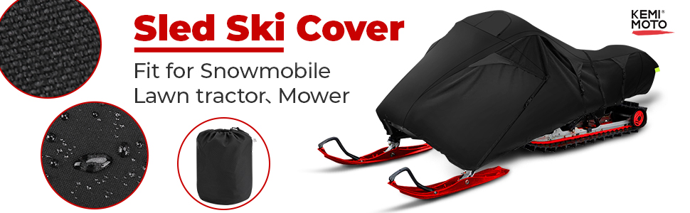 Sled ski cover fit for snowmobile lawn tractor mower ski doo ski cover waterproof Sled Ski Cover