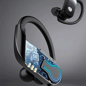 Cuffie Bluetooth senza fili, auricolari con bassi solidi, auricolari sportivi