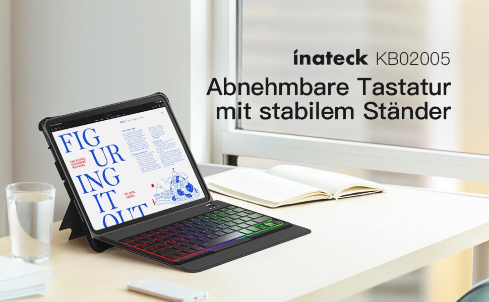 Inateck Tastatur Hülle für iPad Air 4 2020/iPad Pro 11 ...