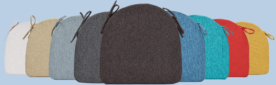 indoor dining room kitchen chair cushions pads 4 colors brown gray grey white cream