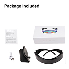 AINSKO Programmable Bluetooth RGB Fullcolor Glowling LED Glasses