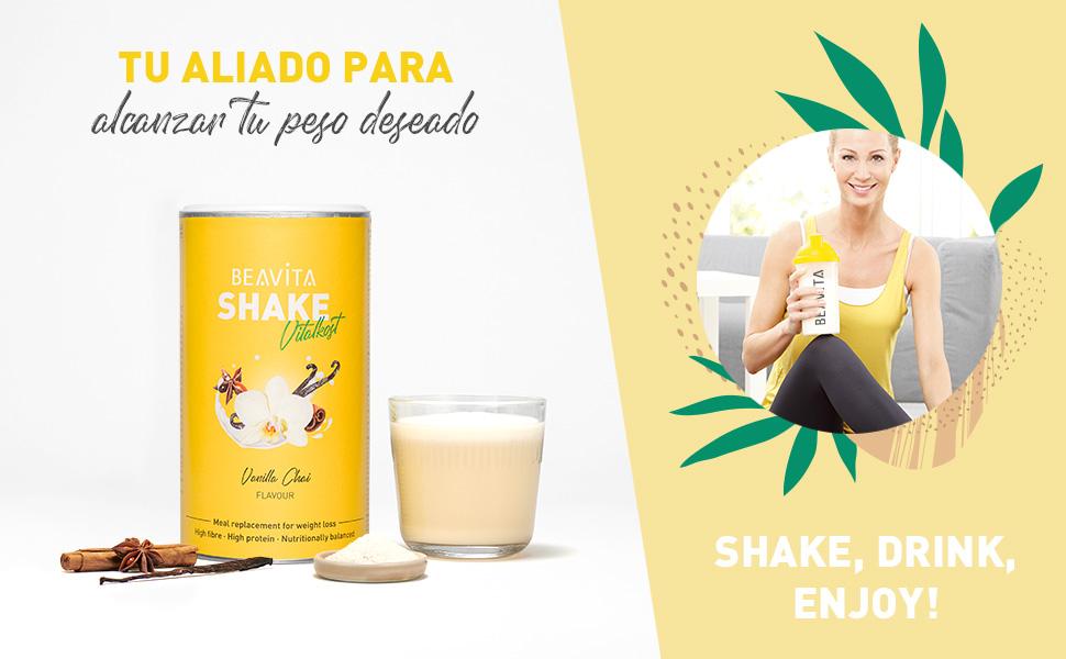 Batidos para adelgazar sabor Vainilla Chai 572 g – Sustitutivo de comida proteico – Batido saciante de apetito – Para perder peso y mantener músculo - ...
