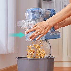one-click empty dustbin