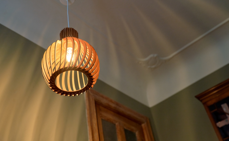 Opis PL2 wood pendant lampcage pendant lamp