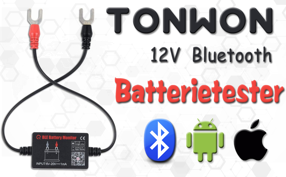 Tonwon Batterietester 12v Bluetooth Wireless Automotive Akku Last Tester Ladegerät Diagnose Analyzer Monitor Für Android Ios Gerät Auto