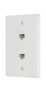 2 port cat6 ethernet wall plate