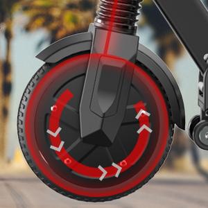 trottinette électrique grand roue