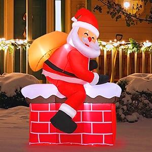 christmas inflatables santa