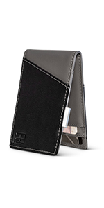 Famp;H Signature Slim RFID Money Clip Wallet in Top Grain Leather