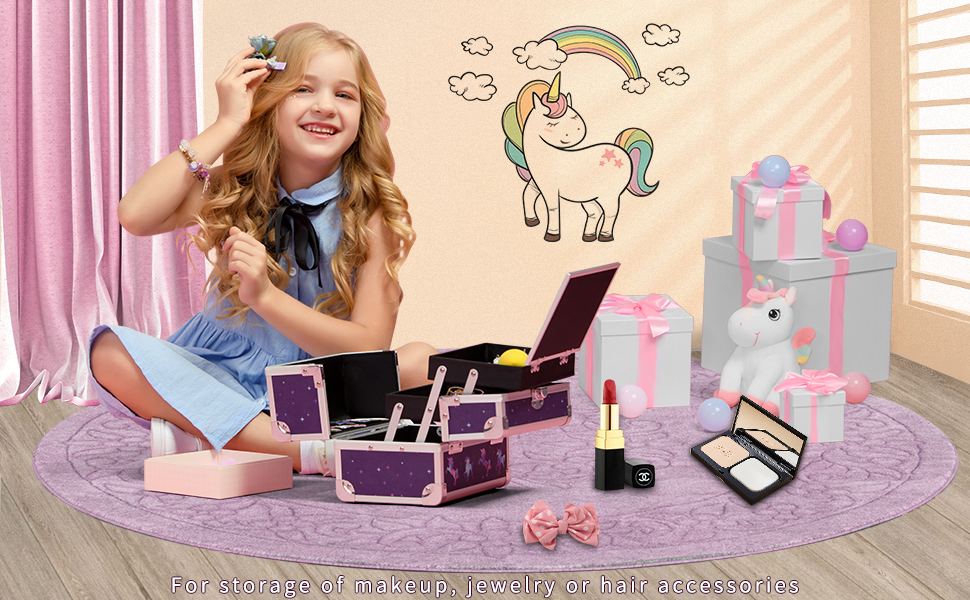 makeup case jewelry box for girls