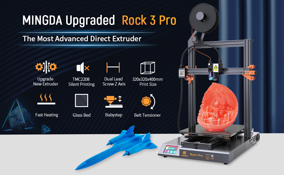 MINGDA 3D Printer rock 3 Pro