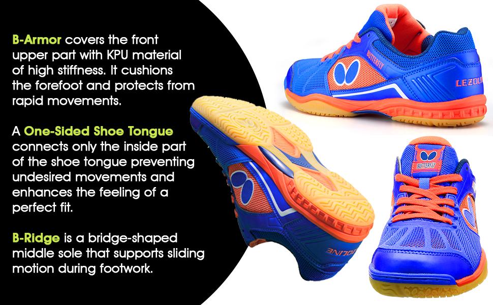 B-Armor, One-Sided Shoe Tongue & B-Ridge