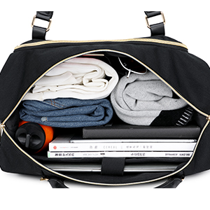 Large Capacity travel duffle weekender bag with laptop compartment