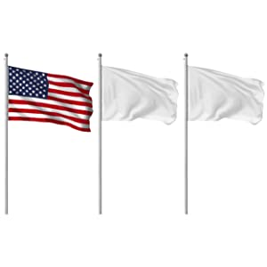 G128 Flag etiquette adjacent flagpole