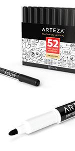 Dry-Erase-Markers-Black-Fine-Tip---Set-of-52