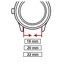 bracelet montre  22mm 20mm 18mm cuir