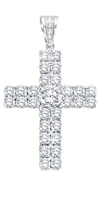 cross pendant cz