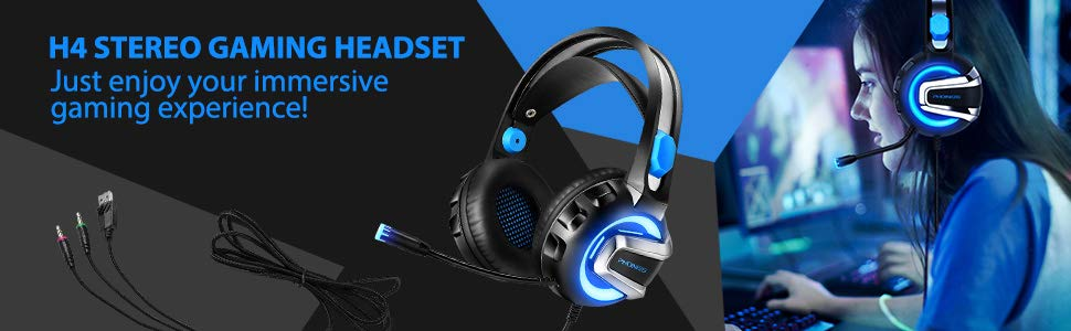 H4 gaming headset for PS4