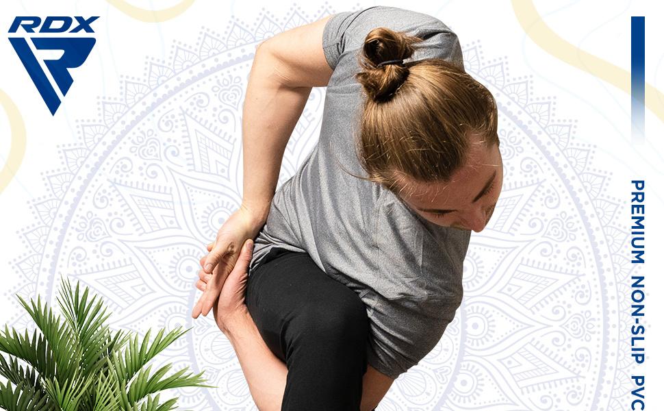 Mata do jogi, antypoślizgowa z paskiem do noszenia, mata treningowa do pilatesu, gimnastyki, siłowni, aerobiku, desek