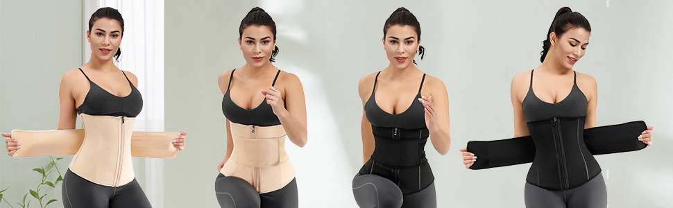 waist trainer cincher underbust corset print