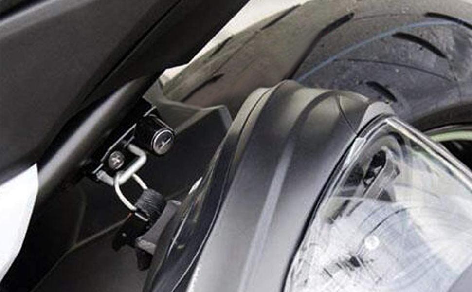 GUAIMI Motorcycle Helmet Lock Anti-Theft Helmets Security Locks for Kawasaki Z800 2013 and Newer-Black