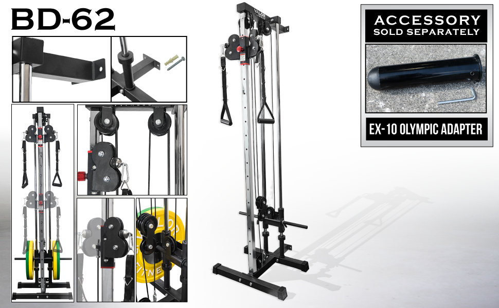 Amazon Com Valor Fitness Bd 62 Wall Mount Cable Station