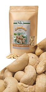 cashew heel rauw zonder zout zoutvrij niet gesteund meel walnoten helften stukjes noten olie snack